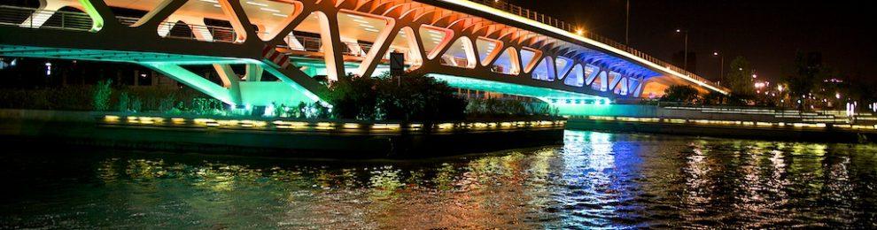 上海的親水河濱 徐匯濱江景觀大道